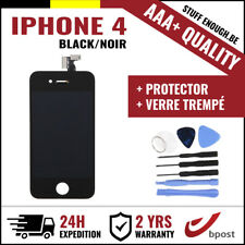 AAA+ LCD  TOUCH SCREEN/SCHERM/ÉCRAN BLACK NOIR & VERRE TREMPÉ+TOOLS FOR IPHONE 4