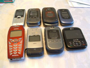 Junk Drawer,Lot of 8 Cell Phones,Various Carriers,Untested,Scrap Parts & Repair