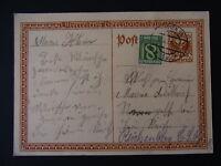 Ganzsache 10 Groschen ZuF 8 Groschen Wien-Reichenberg - b6564