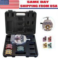 71550 A/C Hose Crimper Kit Manual Crimper Protable Crimping w/ 4 Dies