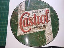 LARGE CASTROL RETRO RUSTY DISTRESSED 42cm VINYL STICKER DECAL CAR WALL ART Rat
