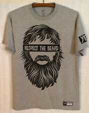 Daniel Bryan WWE Authentic Men's YES Respect The Beard Gray S/S T-Shirt~Medium M