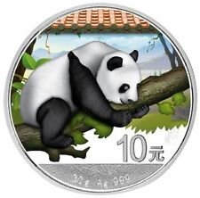 2016 ~ 30~GRAM ~ PURE SILVER ~ 10Y ~ CHINA PANDA PROOF ~ MINT COLORIZED ~ $51.88