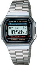 Casio Collection Uhr Armbanduhr Resin Edelstahl Silberfarbend A168WA-1YES