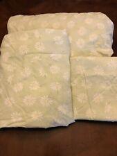 POTTERY BARN KIDS Full Sheet Set Happy Daisy Green Cotton Pillowcase