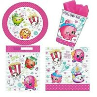 SHOPKINS 40 Piece Party Pack Plates Cups Loot Bags Napkins Birthday Kids