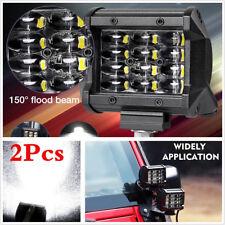 "Waterproof 2Pcs Car Truck 4"" 72W Quad Row Light Bar Cree LED Flood Work Lights"