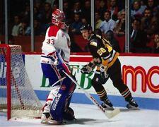 Patrick Roy, Mario Lemieux Montreal Pittsburgh Game Auction 8x10 Photo