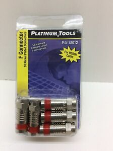 Platinum Tools 18012 F SealSmart Compression Nickel F Connector 10 Pack