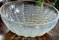 "R LALIQUE 1935 Oursins #2 Opalescent 8"" Bowl #3308 crystal Glass Mint Rene"