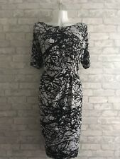 Marks and Spencer Collection Black And White Pattern Dress Plus Size 20