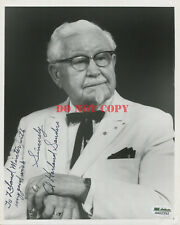 COL. HARLAND SANDERS 8x10 Autographed photo SIGNED KFC rp