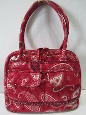 Vintage VERA BRADLEY Red Floral Quilted Shoulder Bag Satchel Purse