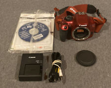 Canon EOS Rebel T5 18.0MP Digital SLR Camera - Red - W/ Charger & Manuals