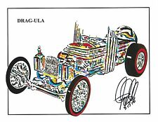 Dragula The Munsters Dragster Car Racing Print Poster Wall Art Redline, 8.5x11