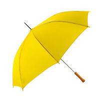 "Rain Umbrella - Yellow - 48"" Across - Rip-Resistant Polyester - Auto Open"