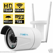 Reolink RLC-410WS Wireless IP Camera , 4MP 2560x1440 Built-in 16GB Micro SD Card