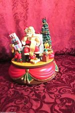 Christmas Santas Best Santa Claus Music Box for Repair 1992