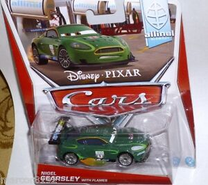 Disney Pixar The Wold of Cars Die-Cast Allinol Nigel Gearsly With Flames New