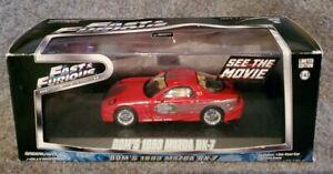 GREENLIGHT FAST & FURIOUS 1/43 CAR DOM'S 1993 MAZDA RX-7 RED BRAND NEW!! NIB!!