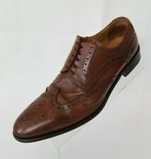 Florsheim Imperial Oxford Wing Tip Brogues Mens Brown Leather Italy Shoes Size 8