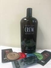 AMERICAN CREW 3-IN-1 TEA TREE 33.8oz WITH FREE SAMPLES OF AMERICAN CREW PRODUCTS