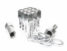 32 Cragar SST Open End XL 1.38 Shank Mag Lug Nuts 14x1.5 with Washer Ford Chevy