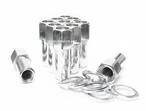 10 Lug Nuts 1/2-20 Open End Chrome SST Mag Nut + Washer 1.38 Shank Cragar Ford