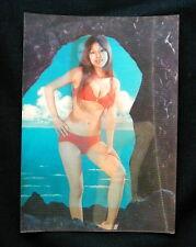 1970 Cartolina tridimensionale 3D DONNA ASIATICA NUDO SEXY n 73