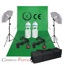 Chromakey Green 3*6m Backdrop Studio Screen Background Support Lighting Kit UK