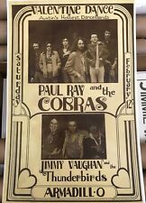 STEVIE RAY VAUGHAN Paul Ray & The Cobras Poster Valentine Dance Armadillo WHQ