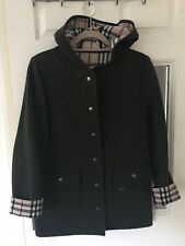 BURBERRY, Car Coat (Jacket/Coat) with Hood, Dark Green With Classic Check