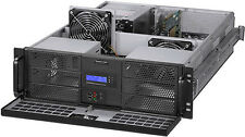 "3U Fan LCD(6x5.25""+4xHDD)Rackmount Chassis EATX Case(Take Mini Redundant PSU)NEW"