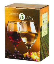 10 Bag in Box da 5 Litri con Sacca e Tappo per confezionamento vino e olio