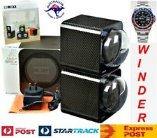 Dual Automatic Watch Winder: 2Fcf-2B Boxy Carbon Fibre Look Fancy Brick
