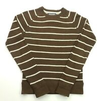 Woolrich Mens Vintage Pullover MEDIUM  Brown Cotton Wool Sweater Jumper Knit