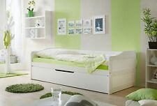 Canapé-lit Lit multifonction à tiroirs double couchage MARIANNE Blanc
