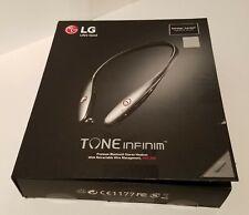 Lg Tone Infinim Hbs 900 Bluetooth Neckband w/ Retractable buds Silver