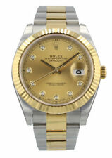 ROLEX DATEJUST 41 126333 DIAMOND CHAMPAGNE DIAL 18K Yellow Gold/Stainless Steel
