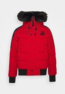 Kings Will Dream Branson Puffer Bomber Jacket - Red