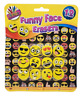 12 Emoji Smile Face Erasers Funny Rubbers Stationary Kids Party Loot Bag Fillers