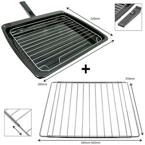 Grill Pan Tray + Adjustable Extendable Shelf for RANGEMASTER LEISURE Oven Cooker