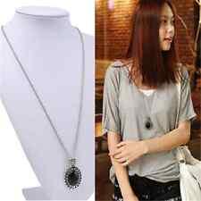 Elegant Hot Oval Jewelry Crystal Choker Statement Bib Pendant Chain Necklace TR5