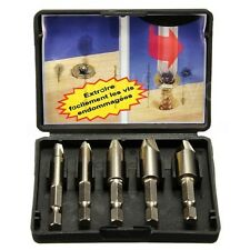 5PCS Stud Bolt Easy Speed Out Screw Extractor Remover Drill Tool 1/4\
