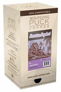 Wolfgang Puck Coffee Hawaiian Hazelnut Coffee 9 5 Gram Pods 18 Count