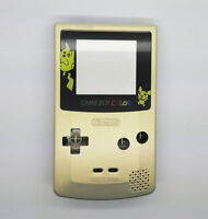 Gold color Picachu Full Housing Shell for Nintendo Game boy Color GBC OEM Repair