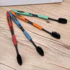 Oral Care 4PCS nano Bamboo Charcoal Nano Toothbrush Double Ultra Soft Toothbrush
