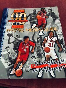 NEW St. John's Basketball 1997-98 Media Guide 22 Wins Ron Artest Felipe Lopez