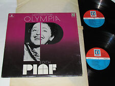 EDITH PIAF Retrospective Olympia 2-LP SET Muse Records Canada French Concert VG+