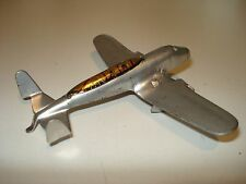 Super Marx ARMY prewar SILVER Airplane with CANOPY showing PILOTS 1940 Wyandotte